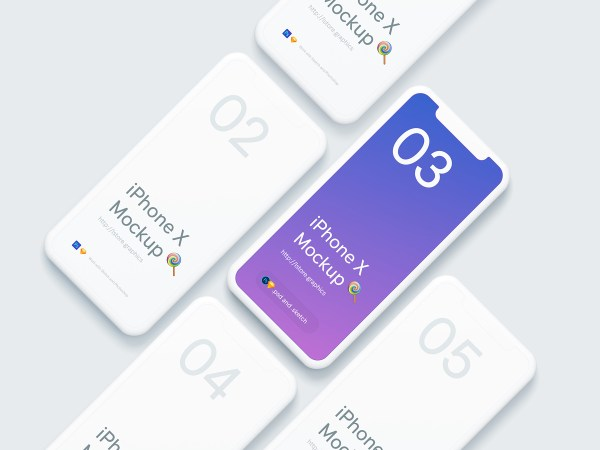 Free Simple iPhone X Mockups - 1