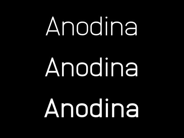 Anodina Free Font Family