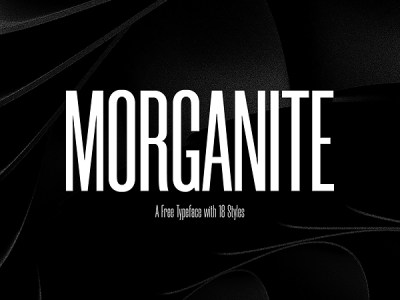 Morganite Free Font Family