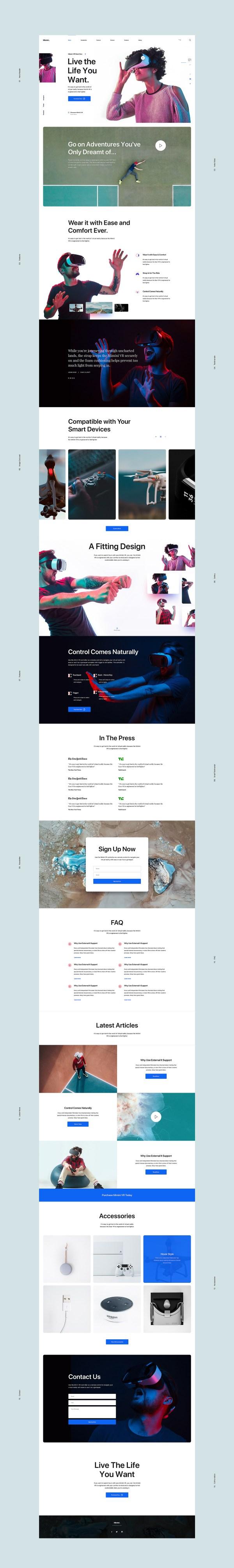Mimini - Free Landing Page Sketch Template 02