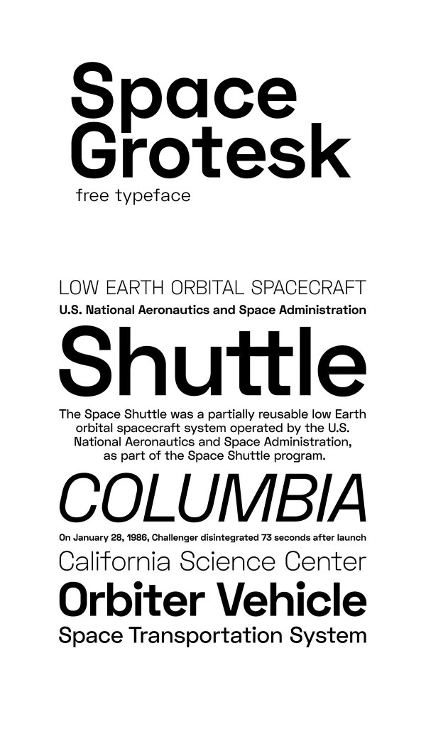 Space Grotesk - Free Sans-serif Font