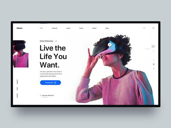 Mimini - Free Landing Page Sketch Template