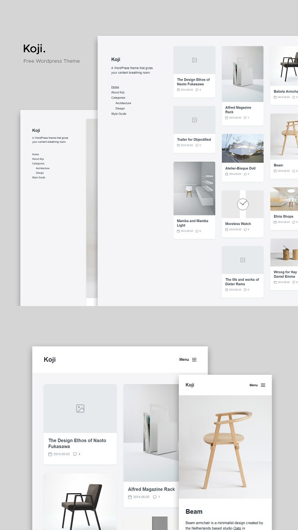 Koji - A Clean and Lightweight WordPress Theme