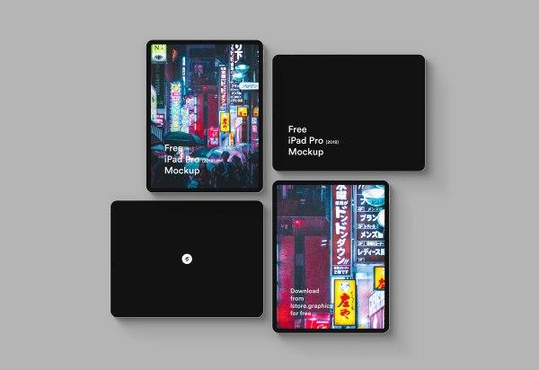 Free iPad Pro 2018 Mockup 01