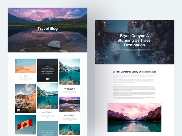 Mi Travel - Free Sketch Blog Template 03