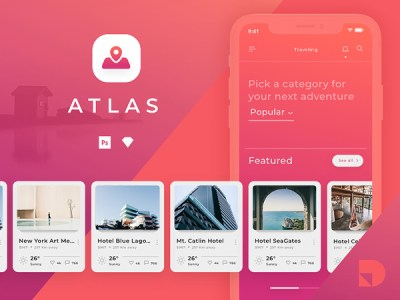 Atlas - Travel App Free UI Kit