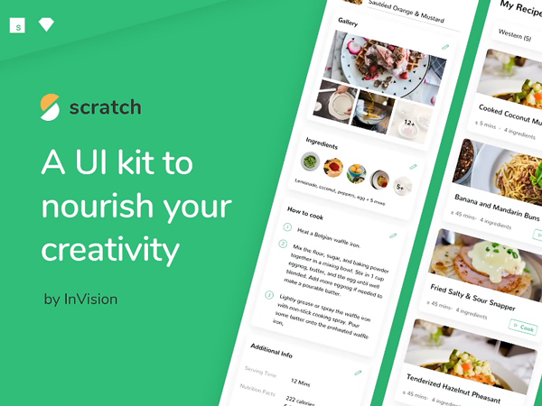 Scratch - Free Recipe UI Kit