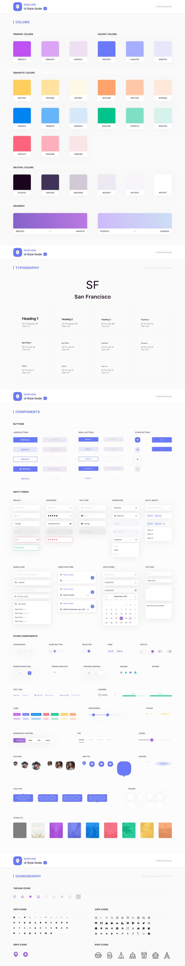 Eggplore Free UI Style Guide