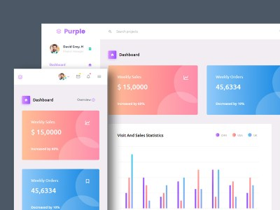 Purple - Free Responsive Admin Dashboard Template