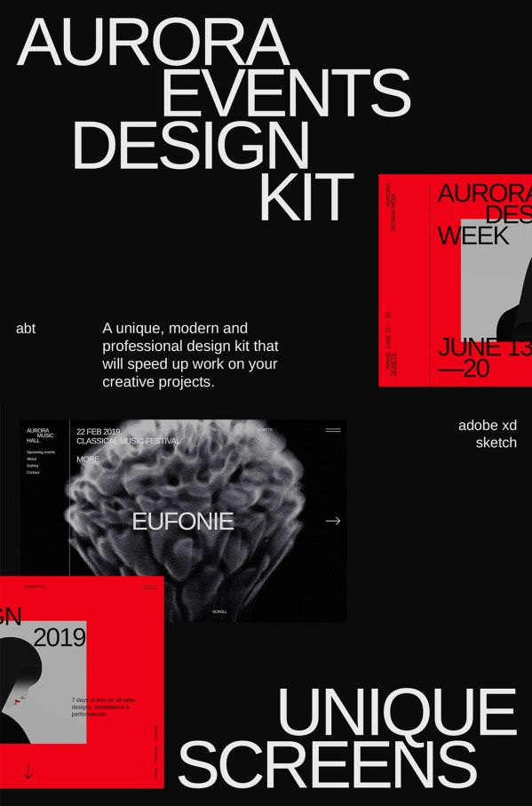 Aurora - Free Web Elements Design Kit 01