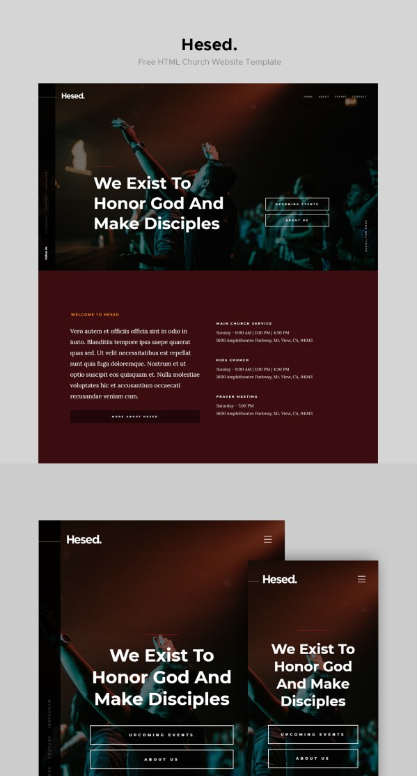 Hesed — Free Church Website Template