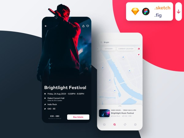 Ticketapp Free UI Kit