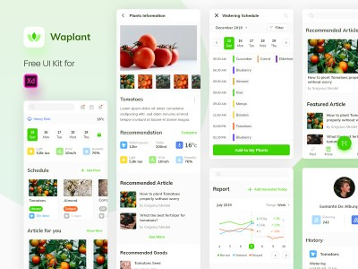 Waplant Mobile Apps Free UI kit
