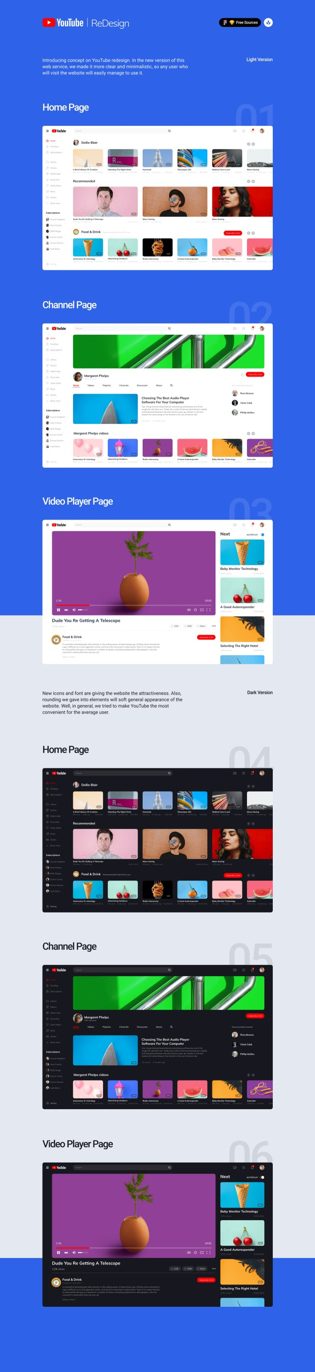 YouTube Redesign Concept Freebie