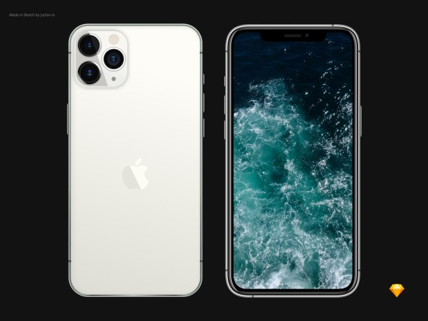 Free iPhone 11 Pro Mockup for Sketch 02