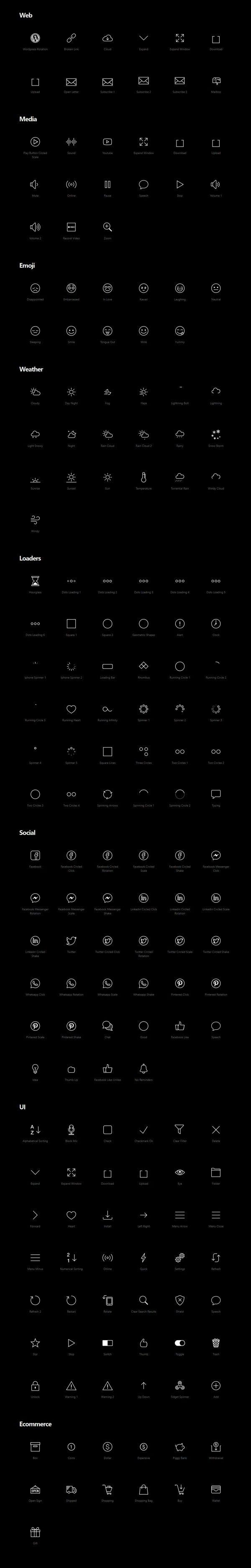 Animated Icons - 200 Free Icons