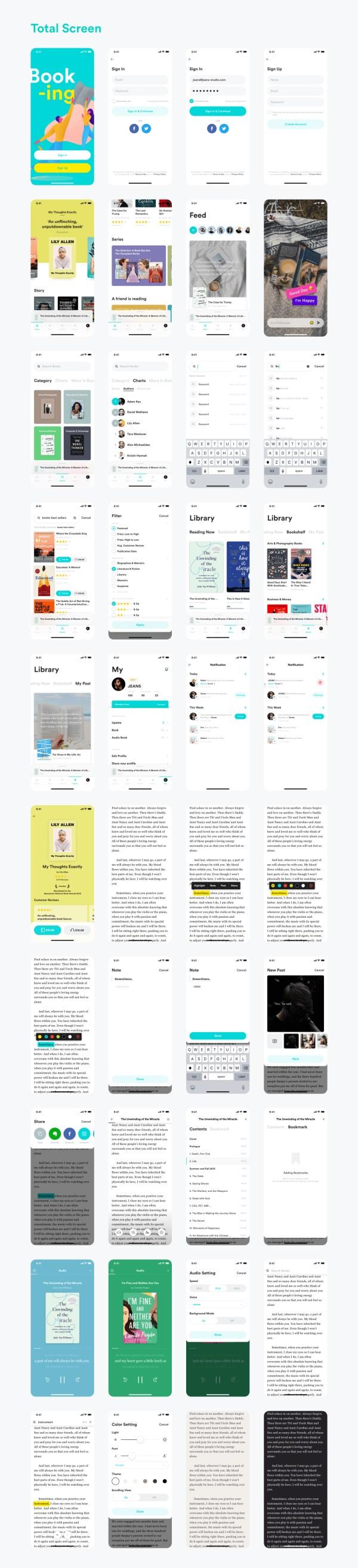 BookStore App Free UI Kit 02