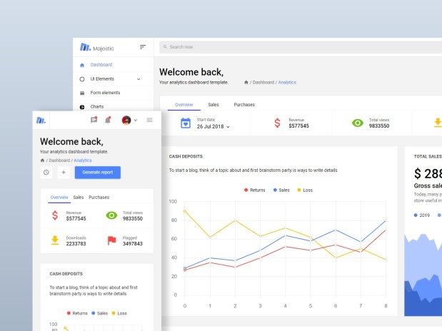 Majestic - Free Bootstrap Admin Template 02