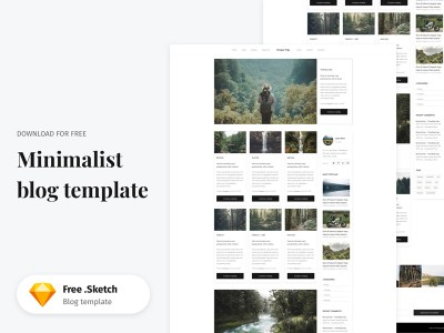 Free Sketch Minimalist Blog Template
