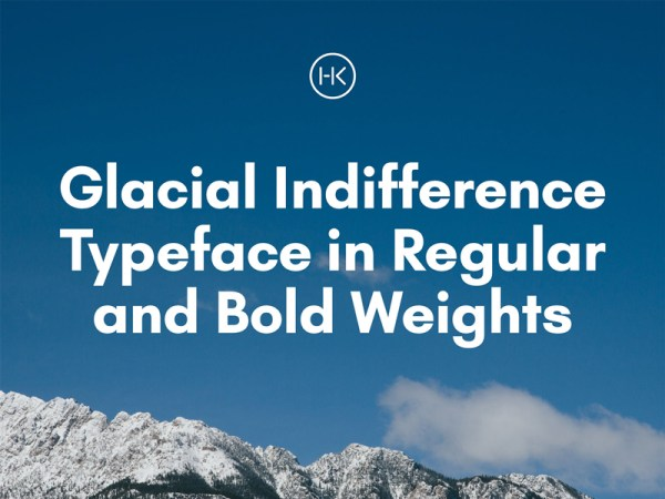 Glacial Indifference Free Typeface