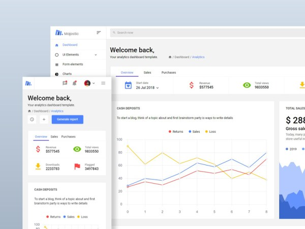 Majestic - Free Bootstrap Admin Template