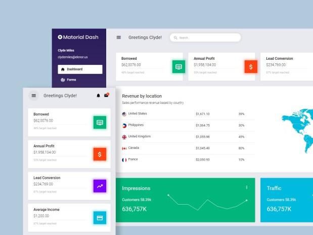 Material Admin — Free Material Design Admin Template 01