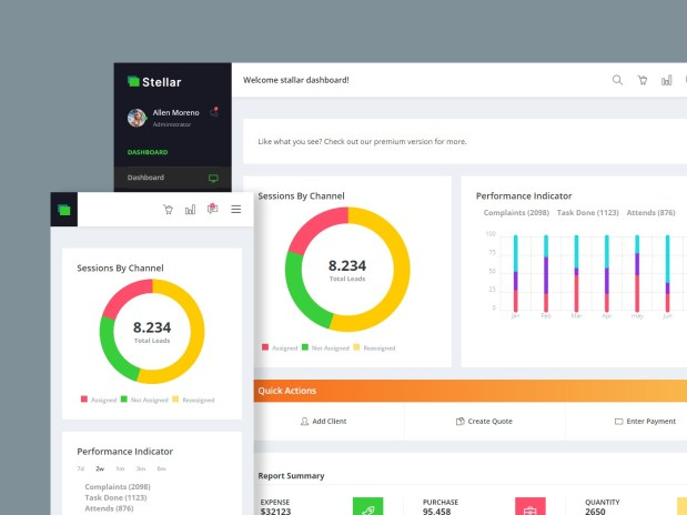 Stellar Admin — Free Bootstrap Dashboard 01