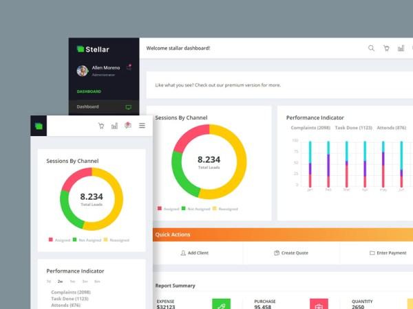 Stellar Admin — Free Bootstrap Dashboard