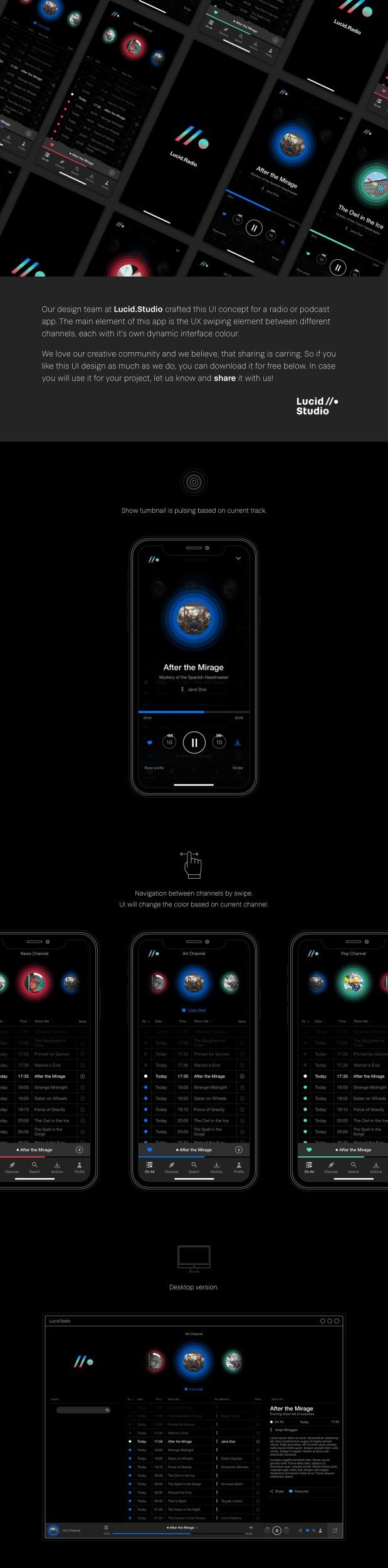 Free Radio App UI Kit