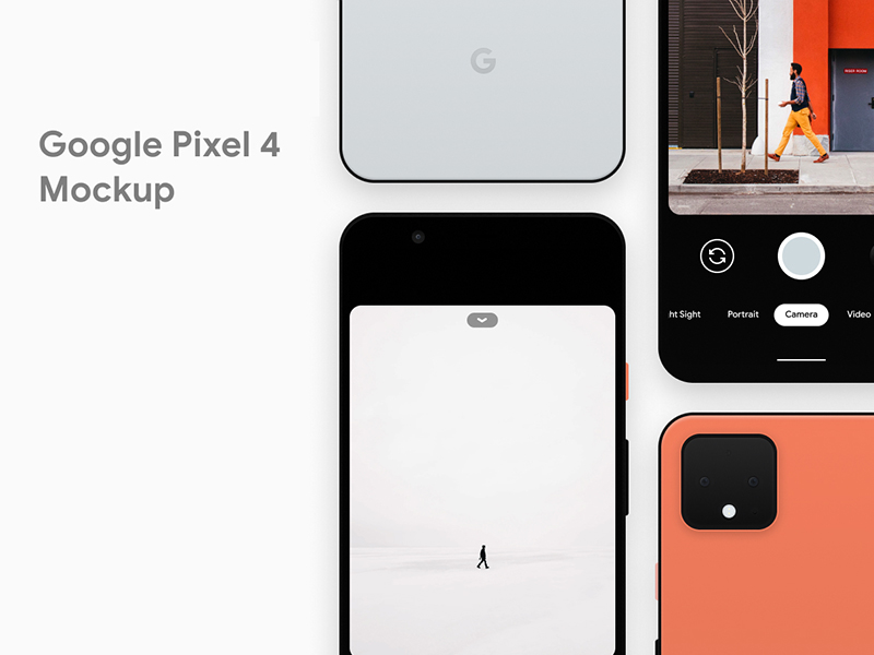 Google Pixel 4 Free Mockup