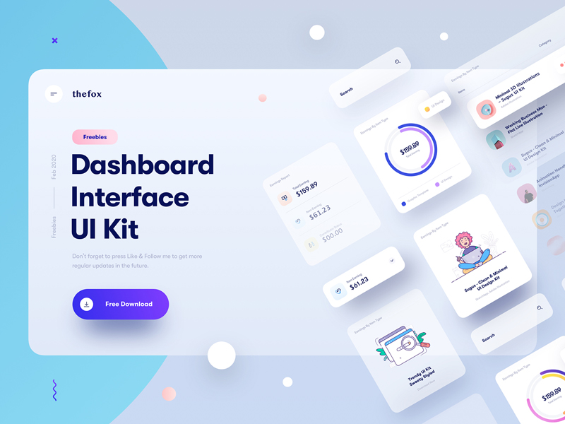 Free Dashboard UI Design Elements