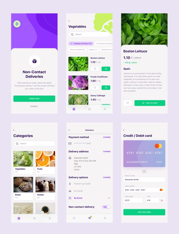 Delivery App Free UI Kit for Figma