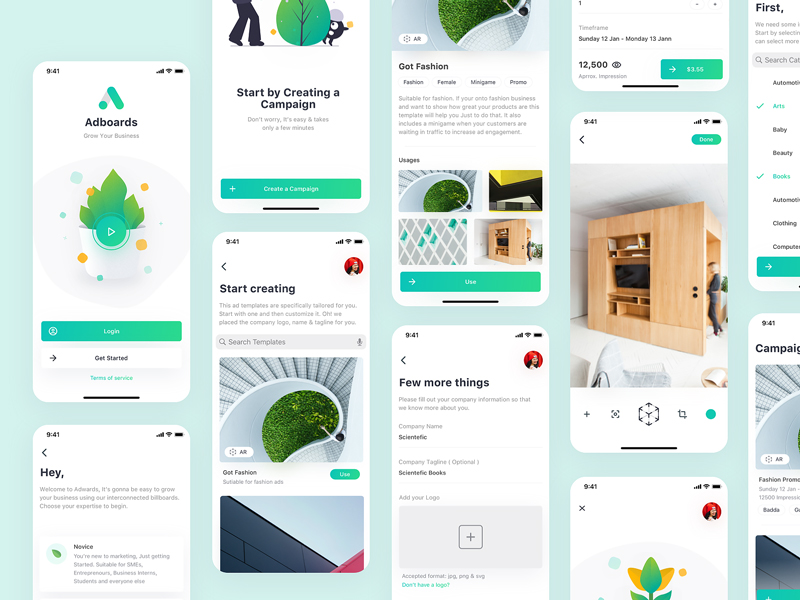 Adboards Free UI Kit for Sketch