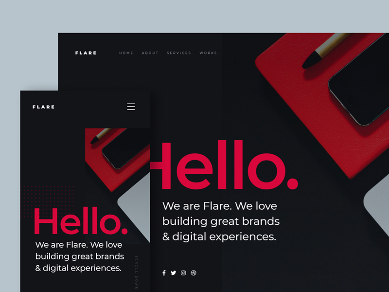 Flare - Free Agency HTML Website Template
