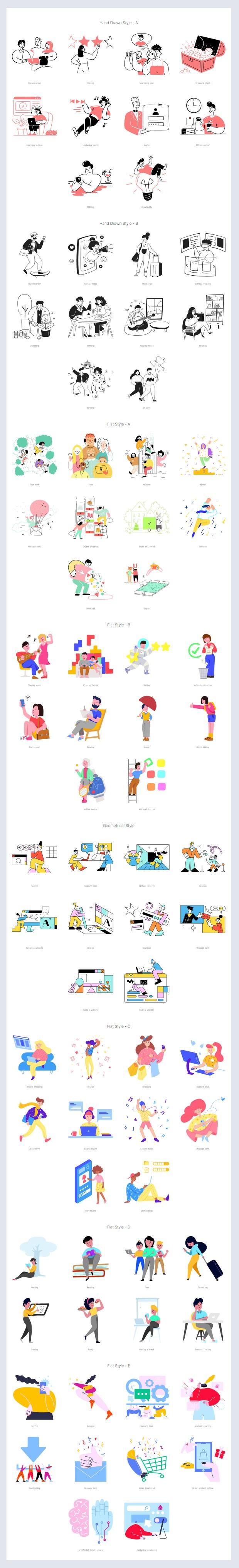 Streamline 80 Free Vector Illustrations