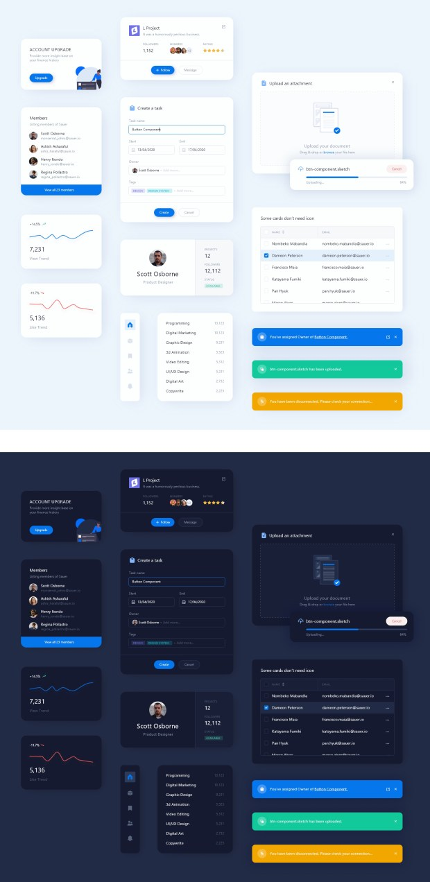 Free UI Elements Kit for Sketch