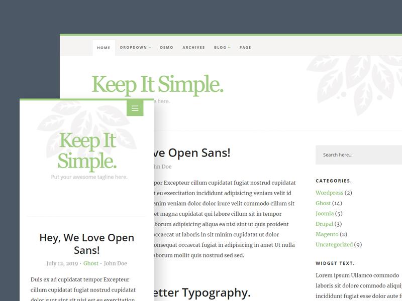 Keep It Simple — Free HTML Blog Template