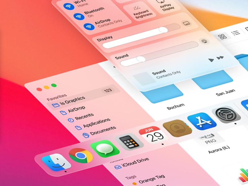 Free MacOS Big Sur UI Kit