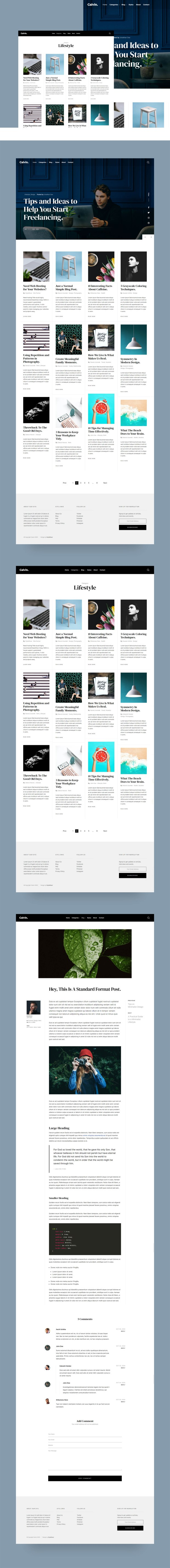 Calvin — Clean and Minimal Free HTML Blog Template