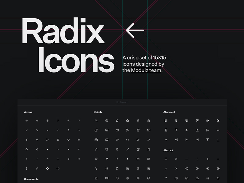 Radix Icons — A Crisp Set of 15×15 SVG Icons
