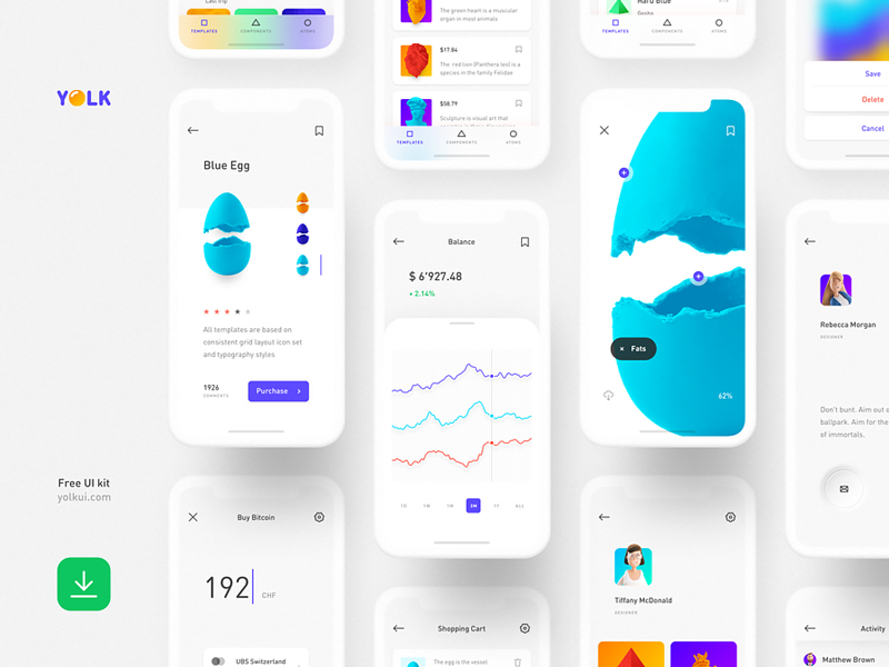 Yolk — Free iOS UI Kit