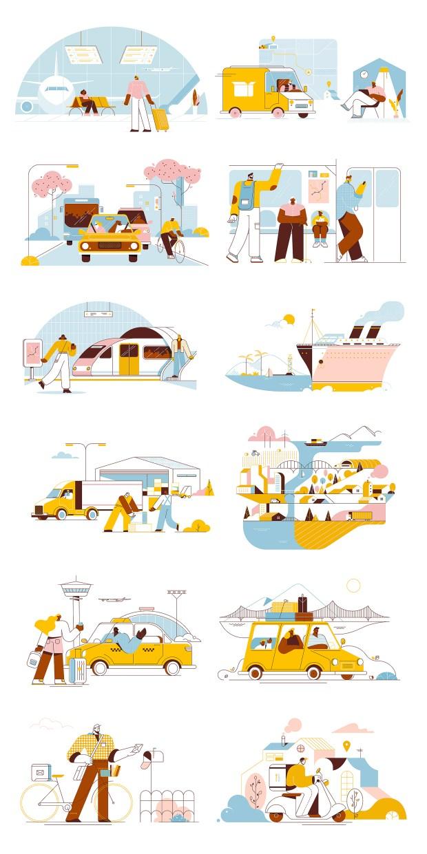 Transport Free Illustrations