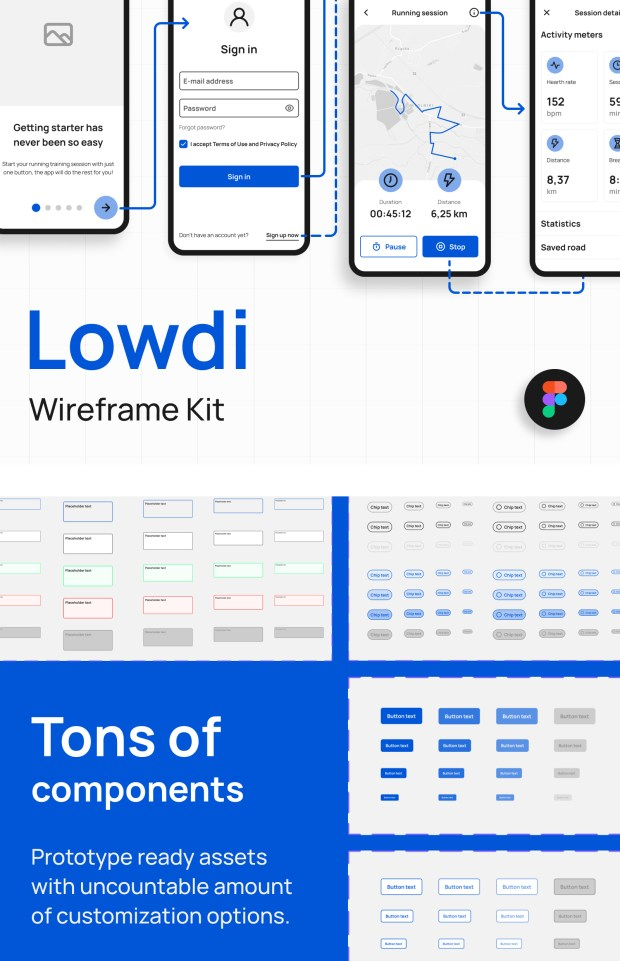 Lowdi — Free Wireframe Kit