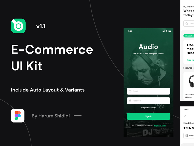 Free E-Commerce UI Kit for Figma