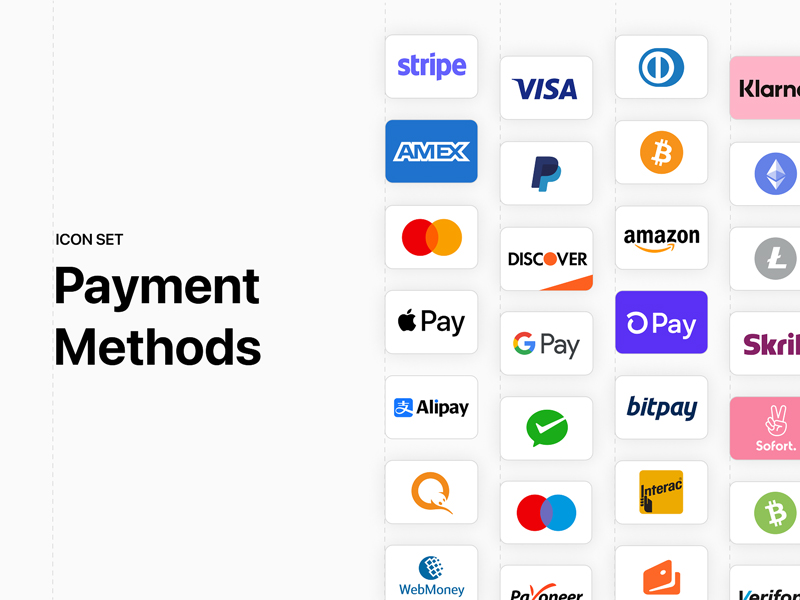 Payment Methods Icon Set