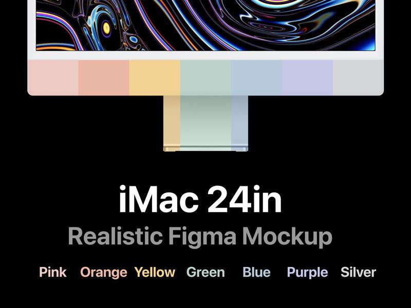 iMac 24 Realistic Free Mockup for Figma