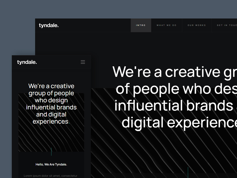 Tyndale — Free HTML Website Template for Agencies