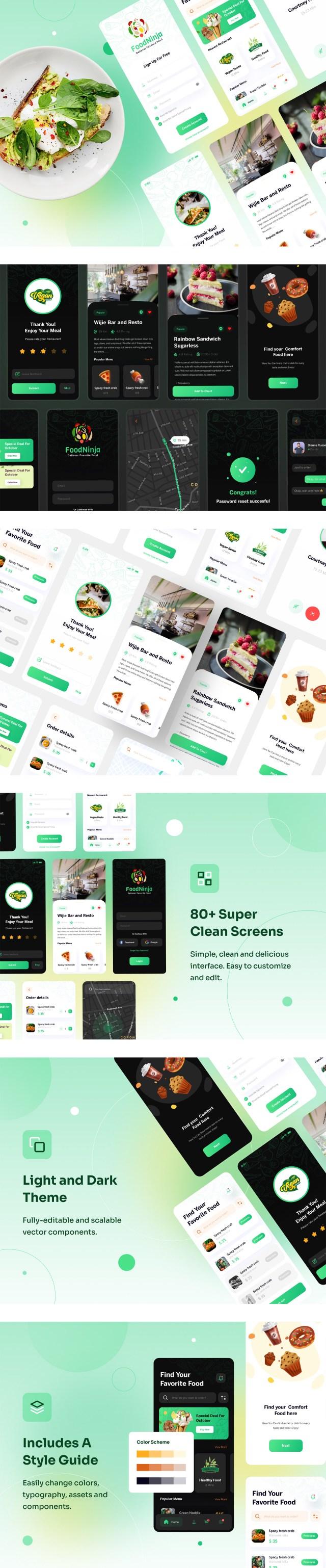 Food Ninja — Food Delivery Free UI Kit