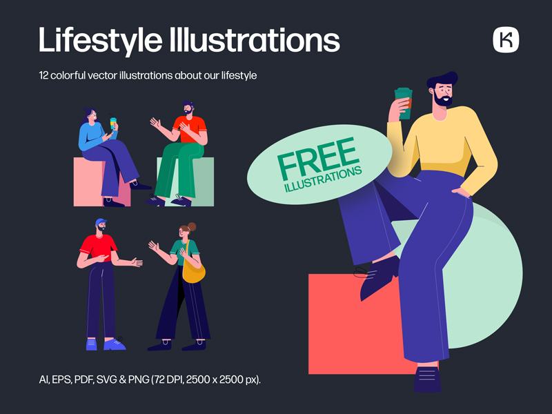 Lifestyle Free Illustrations
