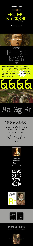 Projekt Blackbird — Free Grotesk Typeface